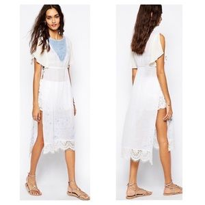 Free People Sugar Brunch Embroidered Tunic w/Ties
